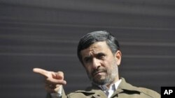 Iran's President Mahmoud Ahmadinejad (file photo)