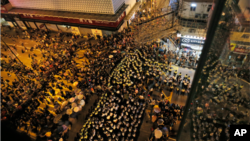 FILE - Hong Kong pro-democracy activists.