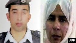約旦飛行員卡薩斯巴(圖左)﹐與伊拉克女囚利沙維(圖右)