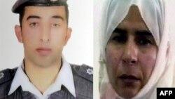 이슬람 수니파 반군 ISIL에 인질로 잡혀있는 마즈 알카사스베 중위(왼쪽)와 요르단에 수감 중인 여성 테러범 사지다 알리샤위.