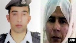 约旦飞行员卡萨斯巴(左)和被判死刑的伊拉克妇女利沙维