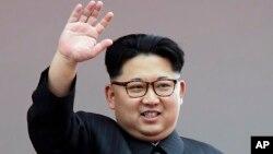 FILE - North Korean leader Kim Jong Un waves at parade participants at the Kim Il Sung Square in Pyongyang, North Korea, May 10, 2016