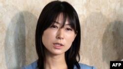Ayaka Shiomura, a member of the Tokyo metropolitan assembly, at the Tokyo city hall, June 19, 2014.