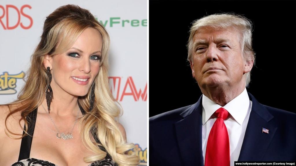 Tư liệu: Stormy Daniels, sao phim người lớn và TT Trump (Courtesy photo: Hollywood Reporter)