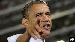 El presidente Obama, en su mensaje semanal, señala directamente a los republicanos como los responsables de lo que pueda ocurrir.