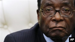 Zimbabwe President Robert Mugabe (file photo)