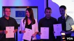 Dobitnici EU nagrade za istraživačko novinarstvo: Gutić, Dizdarević, Avdić i Obrdalj