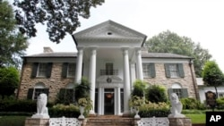 Graceland, Elvis Presley's home in Memphis, Tennessee, is a popular tourist attraction for Elvis fans all over the world. (Aug. 2010)