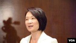 民建聯主席、立法會議員李慧琼 (美國之音記者湯惠芸拍攝)