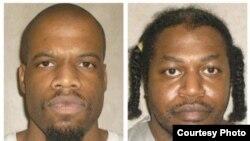 克莱顿•洛基特(左)和原定在他之后注射死刑的另一名犯人 (俄克拉荷马州惩教部资料照片)