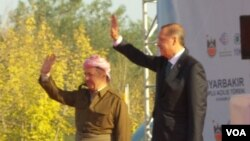 Barzanî û Erdogan li Diyarbekir