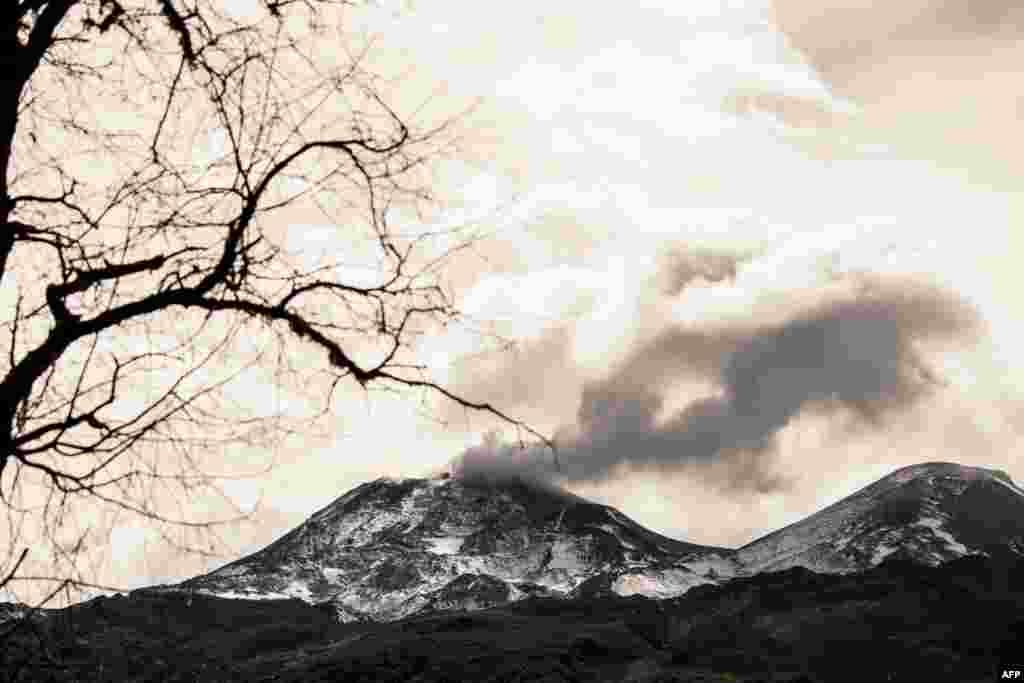 فوران کوه آتشفشان در شیلی