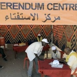 Southern Sudanese register at a referendum center at Al-jref Garb in the capital Khartoum