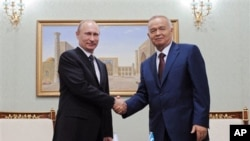 Islom Karimov, Vladimir Putin, Toshkent, 4-iyun, 2012-yil