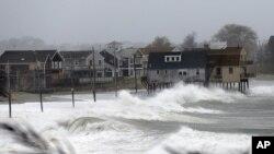 Scituate, dans le Massachusetts, déjà bien affectée par Sandy