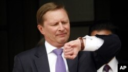 FILE - Russian President's Vladimir Putin's chief of staff, Sergei Ivanov.