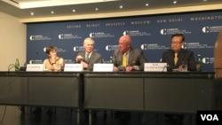 卡內基國際和平基金會舉辦美台民間交流關係(美國之音鍾辰芳拍攝)
