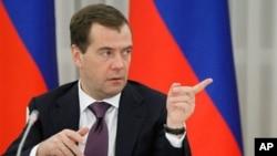 Thủ tướng Nga Dmitri Medvedev.