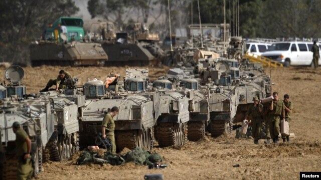 Isroil tanklari G'azo bilan chegarada, 16-noyabr, 2012