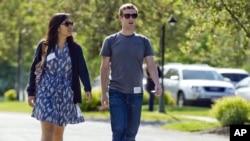 Присцилла Чен и Марк Цукерберг. 2011г.