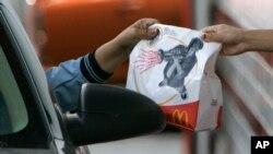 drive-thru order to a McDonald's