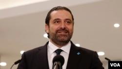 4号宣布辞职的黎巴嫩总理哈里里(资料照)
