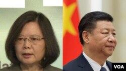 Tổng thống Đài Loan Thái Anh Văn và Chủ tịch Trung Quốc Tập Cận Bình.