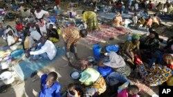 Camp de réfugiés à Kousseri, au Cameroun.
