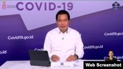 Juru Bicara Satgas Penanganan Covid-19 Prof Wiku Adisasmito dalam telekonferensi pers di Graha BNPB, Jakarta, Kamis (21/1) mengatakan PPKM di Jawa dan Bali Belum Bisa Tekan Kasus Positif Covid-19 (Foto: VOA/Ghita)