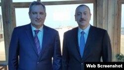 İlham Əliyev və Dmitri Roqozin (Foto Dmitri Roqozinin Facebook səhifəsindən götürülüb)