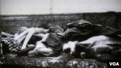 老艾德·罗伊斯所拍纳粹屠杀受害者照片(美国之音国符拍摄)
