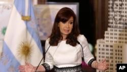 Presiden Argentina Cristina Fernandez di Istana Casa Rosada, Buenos Aires (Foto: dok).
