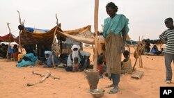 Réfugiés maliens à Chinegodar dans l'ouest du Niger, le 4 février 2012.