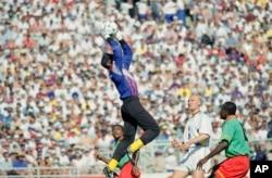Joseph-Antonio Bell lors de la Coupe du monde 1994 aux Etats-Unis