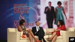 Барак и Мишель Обама на шоу Опры Уинфри