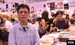 香港樂文書店負責人林小姐。(美國之音湯惠芸)