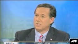Pretendent na republikansku predsedničku nominaciju Rik Santorum oštar je u retorici prema Iranu.