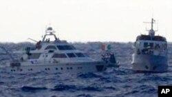 توقف کشتی ها توسط اسراییل در نوار غزه
