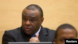 Jean-Pierre Bemba, ancien vice-président de la RDC s'exprimant à l'ouverture de son procès à la CPI, Haye le 22 Novembre 2010 Source: Reuters