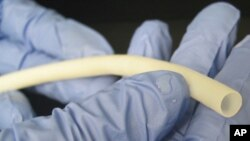 The bioengineered vein, which can be stored for up to a year, is implanted using standard surgical techniques.