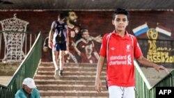 Un Egyptien portant le maillot de Liverpool FC au Caire, le 5 septembre 2018.