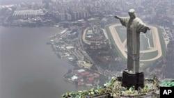 O Rio de Janeiro, visto a partir do Cristo Rei
