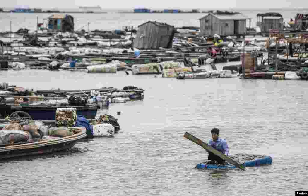 سمندری طوفان چین میں شدید بارشوں، آندھی اور بلند سمندری لہروں کا سبب بنا۔