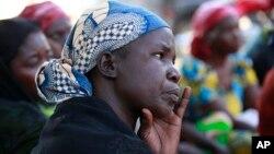 Wasu iyayen daliban Chibok da aka sace.