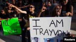 Demonstranti u Bruklinu protestuju zbog oslobadjajuće presude Džordžu Zimermanu kojem se sudilo za ubistvo 17 godišnjeg Trejvona Martina