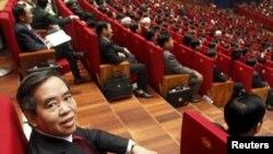 Ông Nguyễn Văn Bình tại lễ khai mạc Quốc Hội khóa 12 tại Hà Nội, 2016. (Hình: REUTERS/Kham)