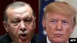 Perezida Recep Tayyip Erdogan wa Turikiya na Donald Trump wa Reta zunze ubumwe za Amerika