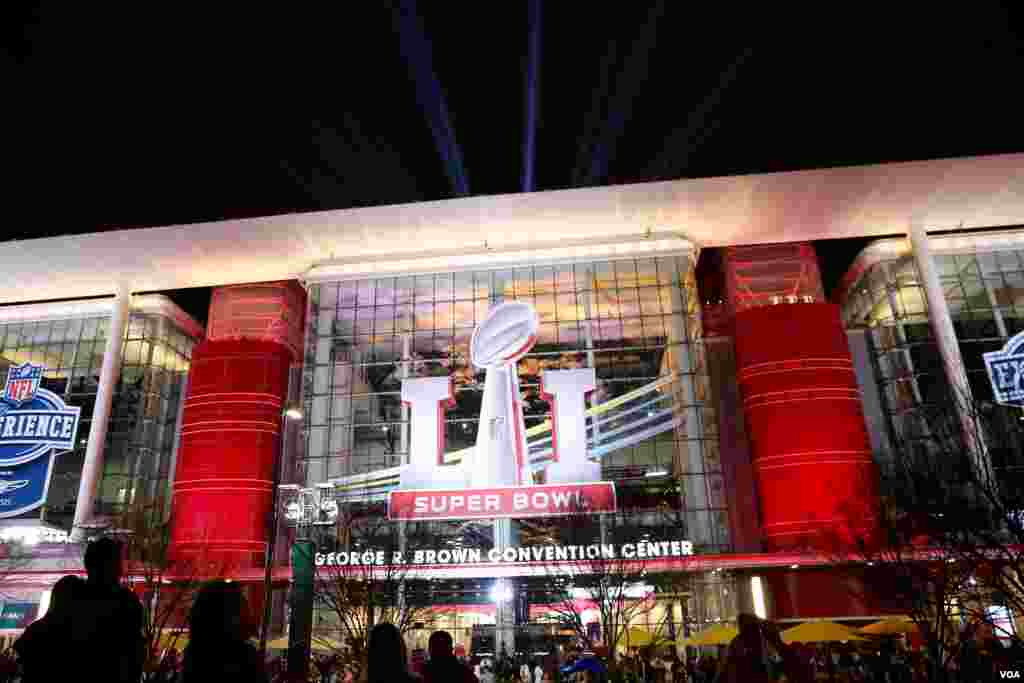 The George R. Brown Convention Center in Houston, Texas is hosting the NFL Experience, a fan festival with interactive experiences, autograph sessions with professional football players, and games for kids. This all leads up to Sunday's big NFL championsh