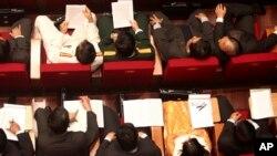 Các đại biểu tham dự lễ khai mạc Đại hội lần thứ 11 của Đảng Cộng sản Việt Nam tại Hà Nội (Ảnh tư liệu).