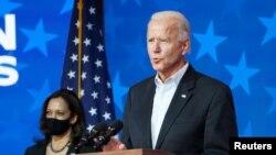 ဒီမိုကရက္တစ္ သမၼတေလာင္း Joe Biden။ (ႏိုဝင္ဘာ ၀၅၊ ၂၀၂၀)